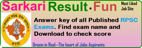 answer kry of rpsc exams