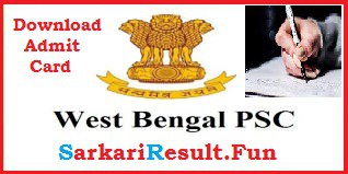 WBPSC Exam Admit Card Download Link