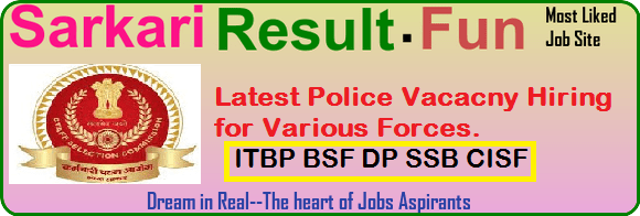 policerecruitmetn by ssc in various forces